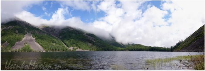 Озеро Омот. Баджальский хребет в августе 2007