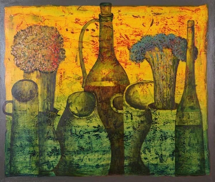 Художник Абжинов Эдуард. Осенний натюрморт. 60х70 холст масло воск