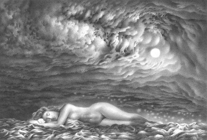 Гурам Доленджашвили. Из серии Женщина в пространстве. Луна