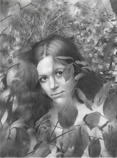 Художник Денис Чернов. Осенняя лирика. 54х40,5 бумага карандаш