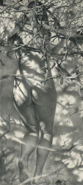 Художник Денис Чернов. Весенняя нимфа. 105х47 бумага карандаш