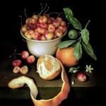 Художник Jose Escofet. Вишни и апельсины. Холст масло