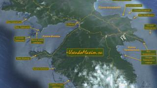 Карта-схема полуострова Гамова. Или карта Витязя, карта бухты Астафьева