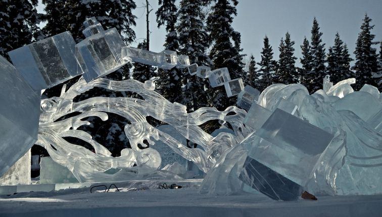 Ледовая скульптура. 2 место. Возрождение элементов. Фрагмент