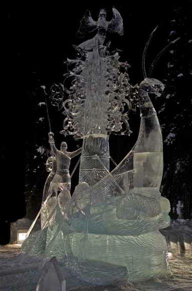 Ледовая скульптура. 4 место. The Land Calls