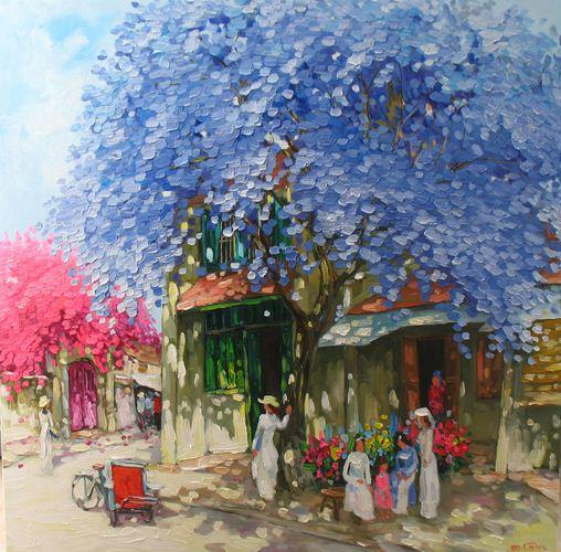 Мастихиновая живопись художницы Phan Thu Trang. Картина двенадцатая