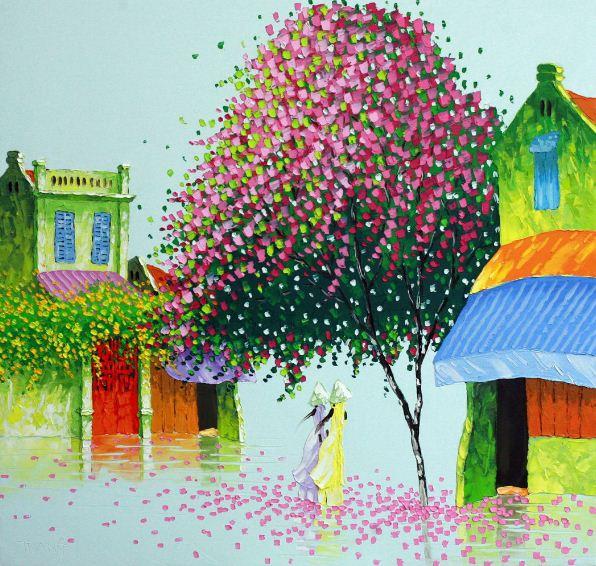 Мастихиновая живопись художницы Phan Thu Trang. Картина первая
