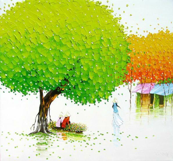 Мастихиновая живопись художницы Phan Thu Trang. Картина пятая