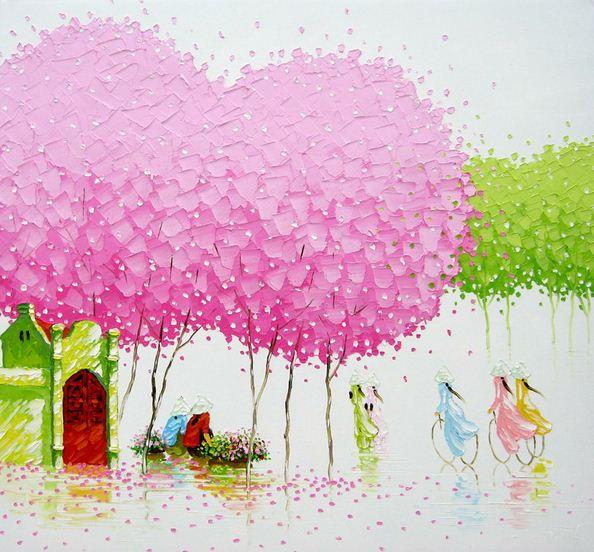 Мастихиновая живопись художницы Phan Thu Trang. Картина вторая