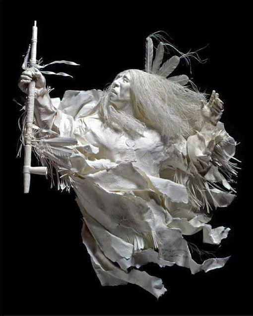 Скульпторы Allen and Patty Eckman. Бумажная скульптура четвертая