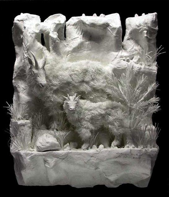 Скульпторы Allen and Patty Eckman. Бумажная скульптура двадцать вторая