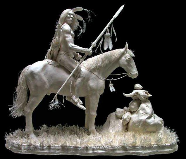 Скульпторы Allen and Patty Eckman. Бумажная скульптура одинадцатая
