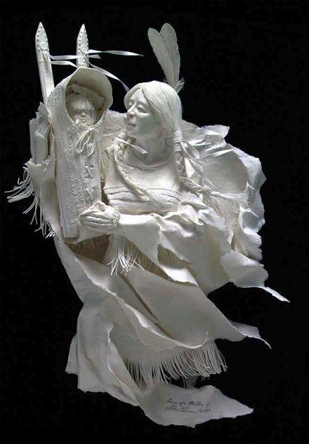 Скульпторы Allen and Patty Eckman. Бумажная скульптура первая