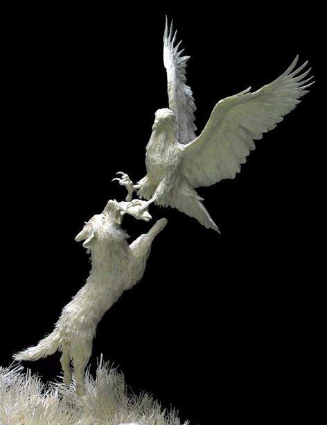 Скульпторы Allen and Patty Eckman. Бумажная скульптура пятнадцатая