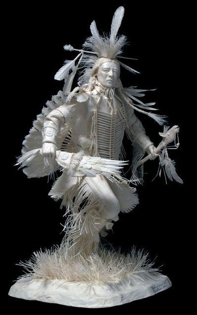 Скульпторы Allen and Patty Eckman. Бумажная скульптура шестая