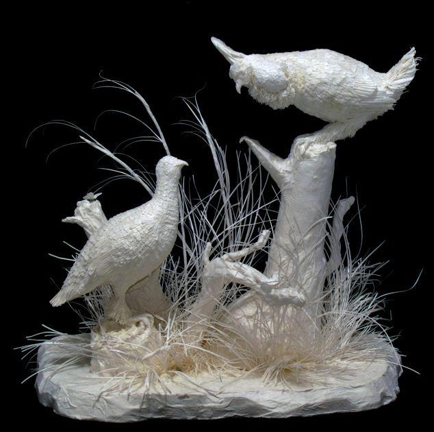 Скульпторы Allen and Patty Eckman. Бумажная скульптура шестьнадцатая
