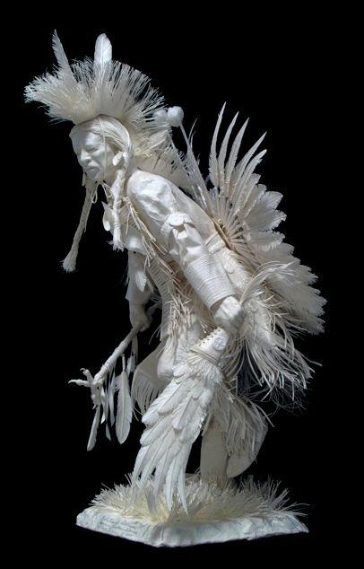 Скульпторы Allen and Patty Eckman. Бумажная скульптура восьмая
