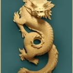 Скульптура. Деревянный дракон