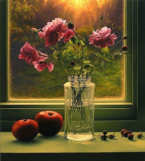 Amerikanskiy-hudozhnik-Scott-Prior.-Natyurmort-Autumn-Roses