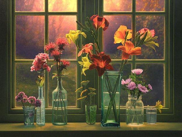 Amerikanskiy-hudozhnik-Scott-Prior.-Natyurmort-Flowers-at-Sunrise