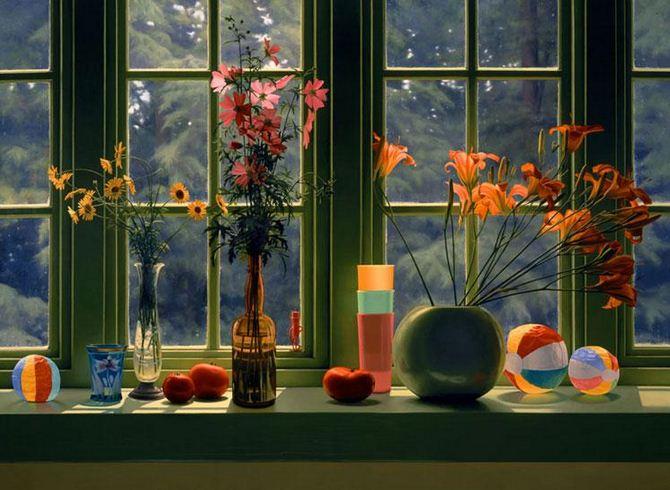 Amerikanskiy-hudozhnik-Scott-Prior.-Natyurmort-Window-Still-Life-in-Summer