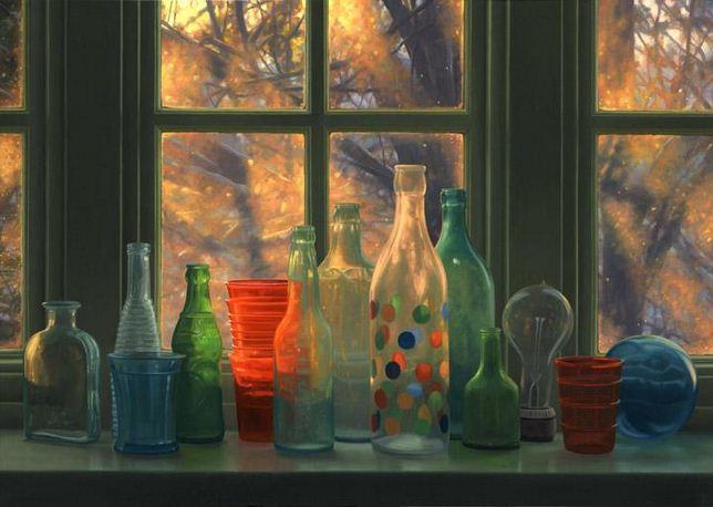 Amerikanskiy-hudozhnik-Scott-Prior.-Natyurmort-Window-Winter-Sunrise