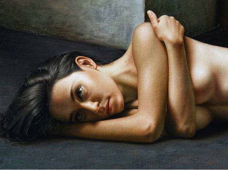 Художник Omar Ortiz. Масляный гиперреализм. Картина 140х180. Фрагмент. холст масло