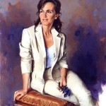 Испанский художник Ricardo Sanz. Портрет маслом первый