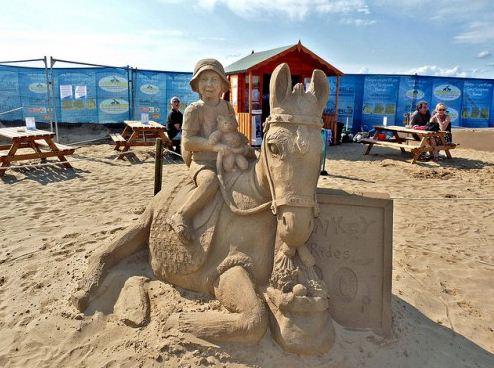 Песчаная скульптура четырнадцатая
