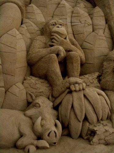 Песчаная скульптура девятнадцатая