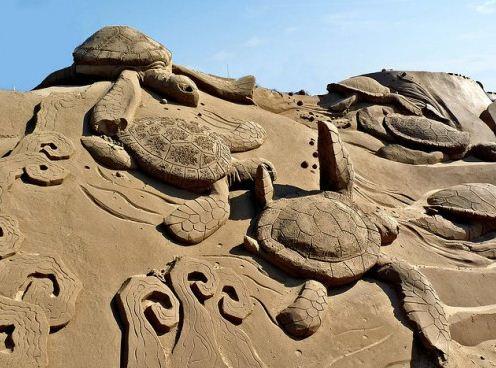 Песчаная скульптура одинадцатая