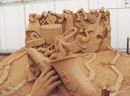Песчаная скульптура пятнадцатая