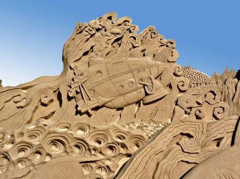 Песчаная скульптура тринадцатая