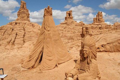 Песчаная скульптура вторая