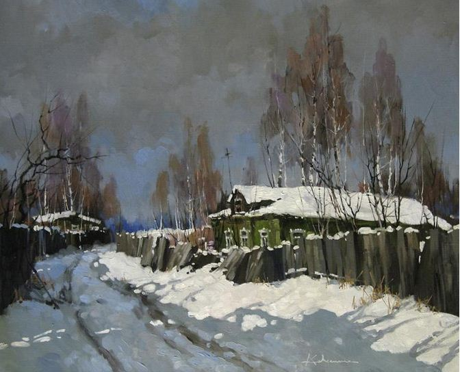 Савченко Алексей. К весне. 50х60 холст масло