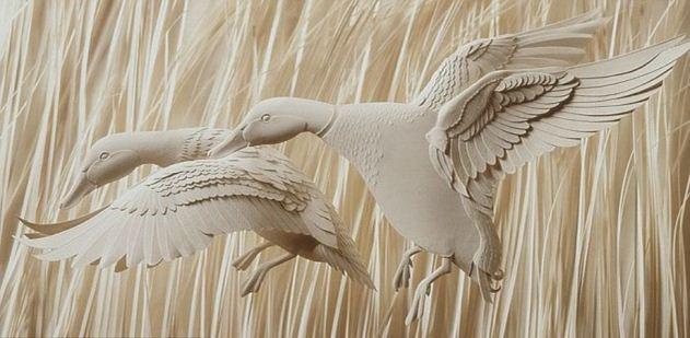 Skulptura-iz-bumagi-Calvin-Nicholls.-Animalistika-v-skulpture-tridtsat-pervaya.