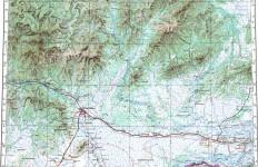 Топографическая карта Еврейской автономной области 1:500000