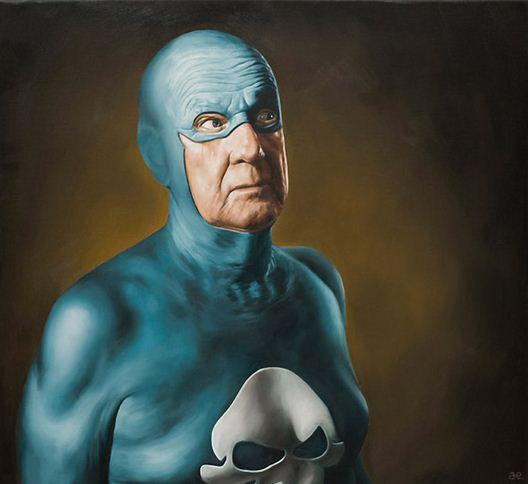 Andreas Englund. Юмор в живописи. Супер-герои. Первая