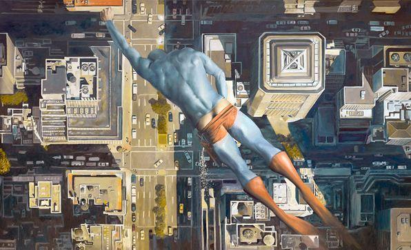Andreas Englund. Юмор в живописи. Супер-герои. Третья