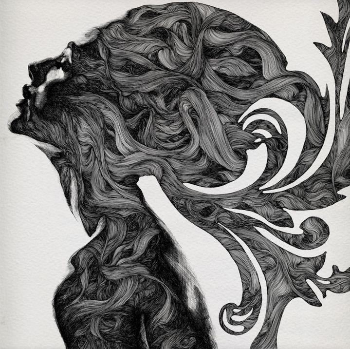 Gabriel Moreno. Рисунок шариковой ручкой. Профиль