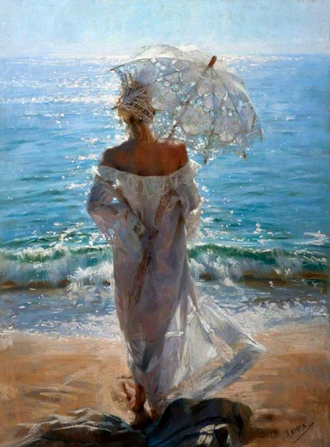 Vicente Romero Redonto. Живопись портреты женщин. Картина восьмая