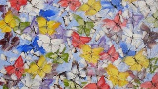Дмитрий Кустанович. Картины мастихином. Бабочки