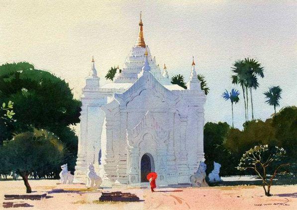 Myoe Win Aung. Современная восточная акварель. Двадцать третья