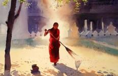 Myoe Win Aung. Современная восточная акварель. Двадцатая