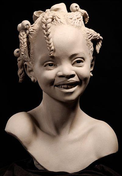Philippe Faraut. Скульптура из глины. Tatoune
