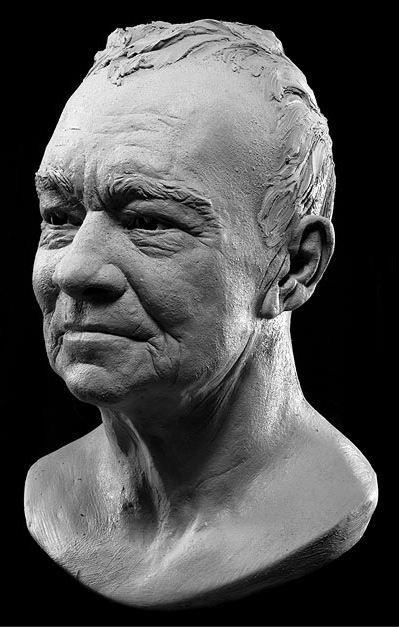 Philippe Faraut. Скульптура из глины. Жан