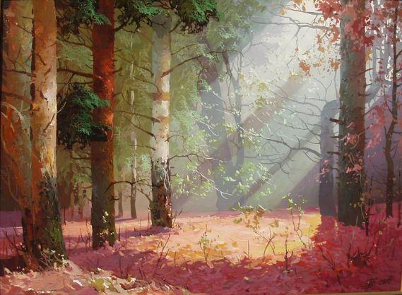 Виктор Быков. Волшебный лес. 30х40 холст масло
