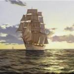 Brereton James. Картины маслом море. The Stately Ship. 2009