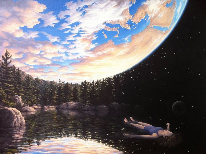 Rob Gonsalves. Иллюзии в картинах. The Phenomenon of Floating