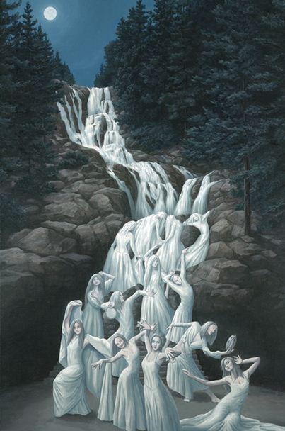 Rob Gonsalves. Иллюзии в картинах. Water Dancing